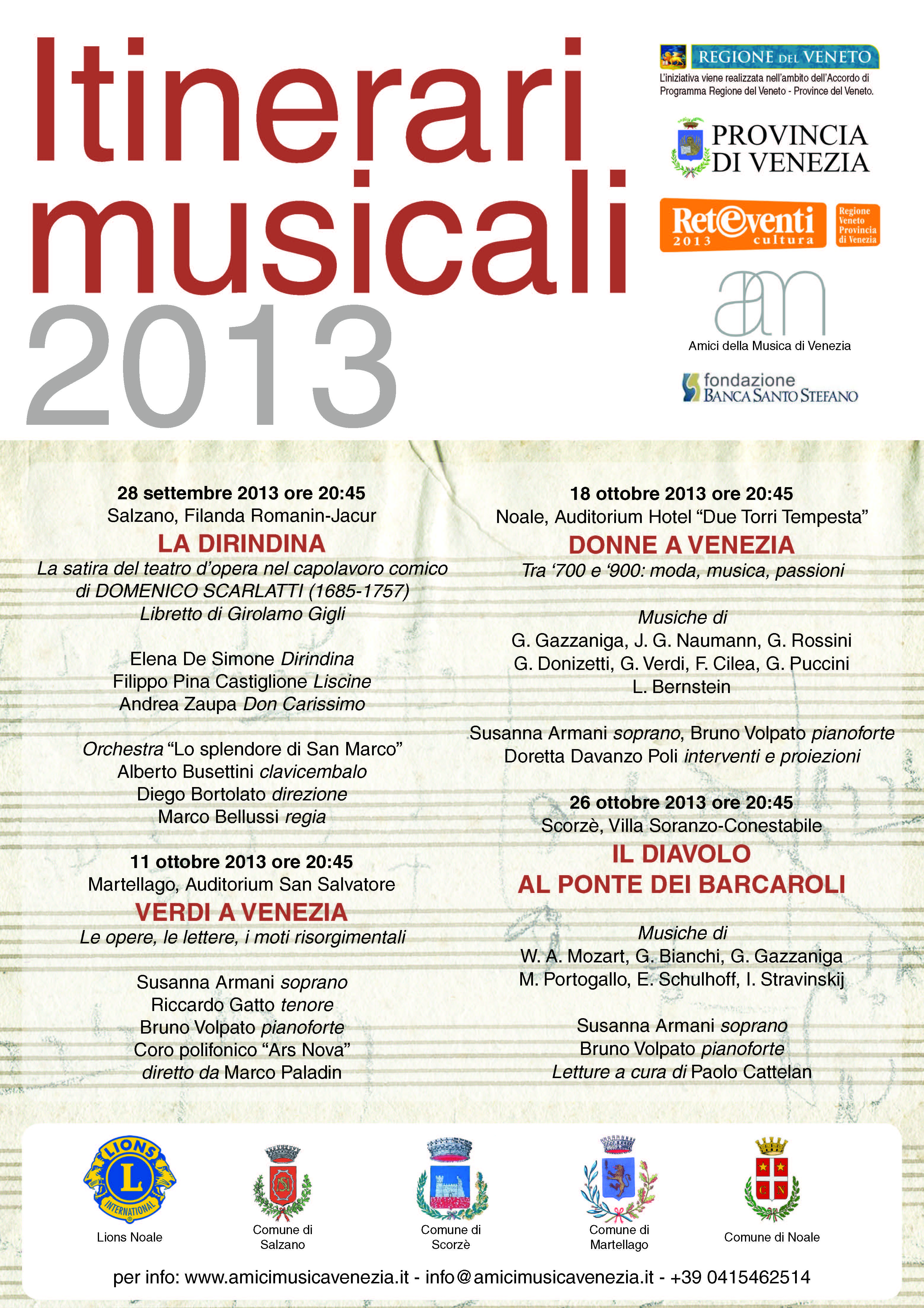 Itinerari musicali 2013